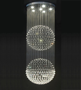 Double floating crystal ball chandelier ceiling lighting norway double floating crystal ball chandelier aloadofball Image collections