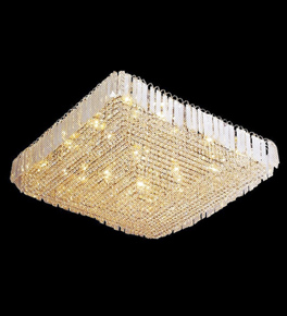 Surface Mounted Flush Crystal Chandelier