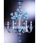 Hand Made Murano Style Chandelier