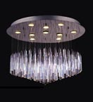 10 Light Floating Icicle Chandelier