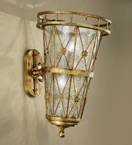 Grecia Design 2 Light wall lamp With Hand Forged Details