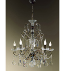 Hand Curved Preziosa Design 5 Light Chandelier