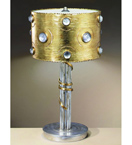 Eyes design 3 Light Desk Lamp is hand decorated with crystal