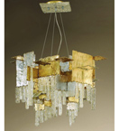 City Design 6 Light Mosaic Style Chandelier