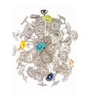 Fireworks Design Blown Glass 81 Light Chandelier