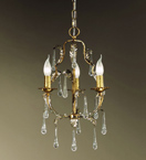 Villa Design Hand Bent Pendant with Crystal Drops