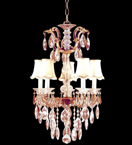 5 Light Crystal Chandelier with Shades