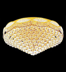 Surface Mounted Elegant 16 Light Crystal Chandelier