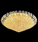 Surface mounted 36 light cone shaped crystal chandelier